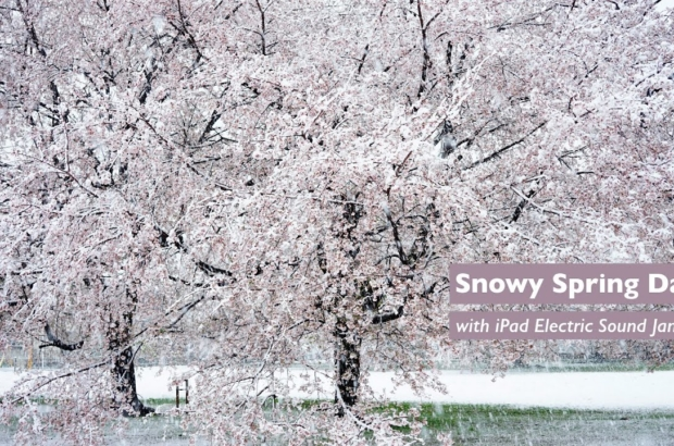 Snowy Spring Day with iPad Electric Sound Jam
